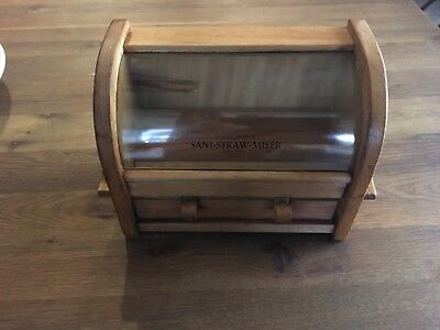 VTG c 1950's Schupps Sani-Straw Miser - Deluxe Model Automatic Straw Dispenser