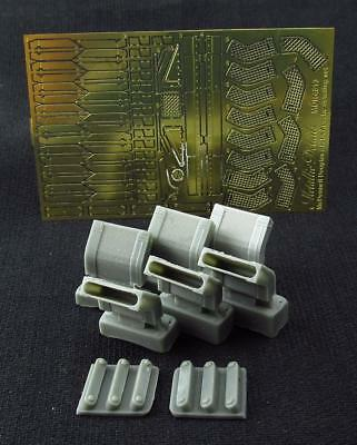 AH-64 Apache. Exhaust Pipes. PE & resin parts  1/48 MetallicDetails # 4819