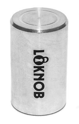 "Loknob Aluminum Tour cap 1/2"" Silver - for Boss type pedals etc with 6mm shafts"