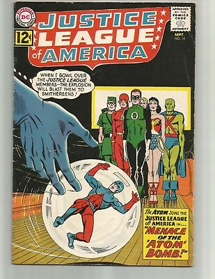 Justice League of America #14 (Sep 1962, DC) Atom joins the JLA!