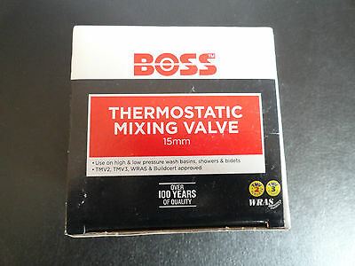 Boss 15mm Thermostatic Blending/Mixing Valve + All fittings + instruction manual