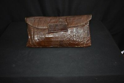 Vintage Alligator Clutch Purse