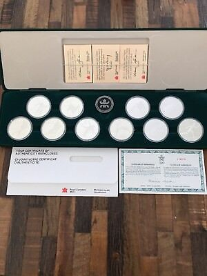 1988 Olympic Coin Set of 10 Canadian $20.00 Silver Proof Coins