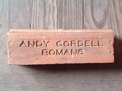 Antique Brick Stamped **** Andy Cordell Roman  ****