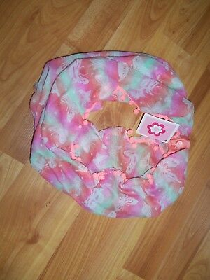 Girls Multi-Color Butterfly Infinity Scarf Os Polyester Ages 3+ Spring/summer Fs