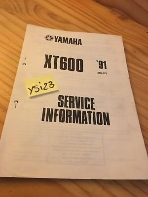 Yamaha XT600 1991 XT 600 600XT service information technique technical data