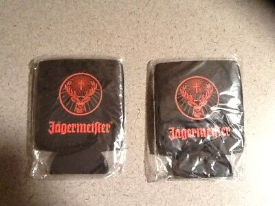 Lot of 2 NEW Jagermeister Can Coozies Koozies Jager