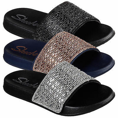 fbfb72f275a5 Women s Skechers 2nd Take Summer Chic Slip On Comfort Casual Flip Flop  Sandals