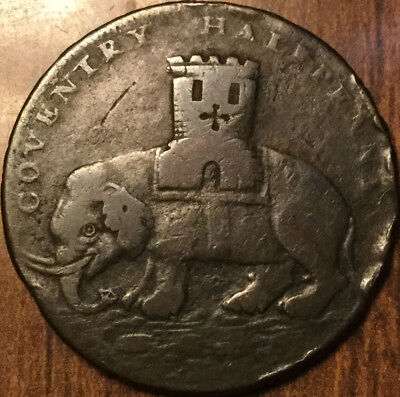 1793 UK GB GREAT BRITAIN HALF PENNY TOKEN COVENTRY Elephant