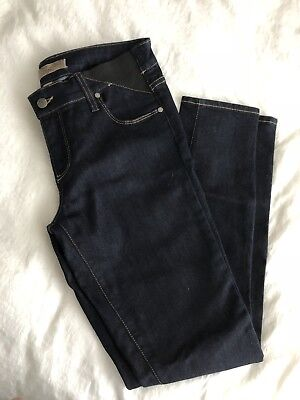 NWOT Paige size 29 x 31 Skyline skinny Dark blue wash Low rise Maternity jeans