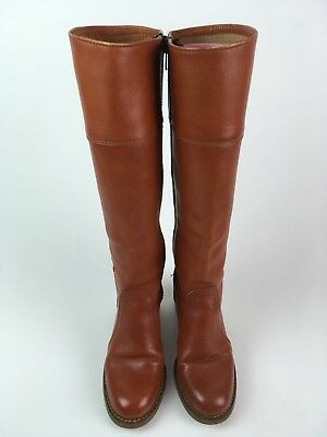 Vintage 70s Leather Campus Boots Tall Tan Size 6 B