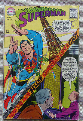 Superman #208, An Early Silver Age Dc Comic, July 1968.
