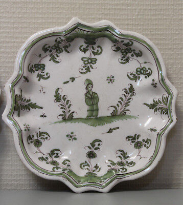 18Éme Siecle, Assiette Moustiers ,chinois, Xviii Siecle