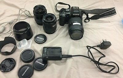 Olympus EVOLT E-500 40-150m Digital Camera w/ Zuiko Lens14-45mm; working (BL)