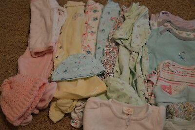 22 Piece Baby Girl Clothes Lot 0-3 Months - Box #2
