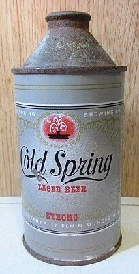 Vintage Straight Steel Cold Spring Lager Beer 12 FL OZ Cone Top Beer Can