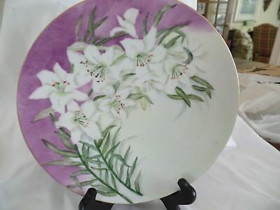 Vintage Limoges Hand Painted Plate Signed