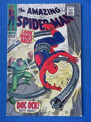Amazing Spider-Man # 53 - (Fn/vf) - Dr Octopus -Peter Parker/gwen Stacy 1St Date