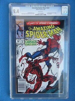 Amazing Spider-Man # 361 - Cgc  - (9.4) -1St App Of Carnage - Venom -White Pages