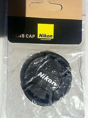 LC-52 52mm Front lens cap Cover Center-pinch Snap-on For Nikon Camera Free Ship