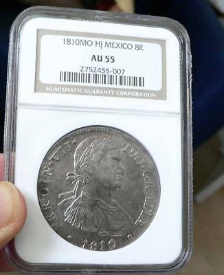 1810-Mo, HJ Mexico 8 Reales  NGC AU55 8R nice detail and luster for the grade.
