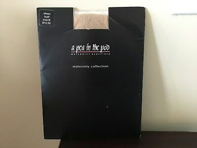 Women's A Pea In The Pod Maternity Pantyhose Size B Sheer Buff Nwt! $12.50!