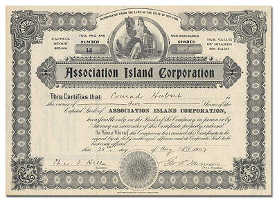 Association Island Corporation Stock (General Electric Getaway)
