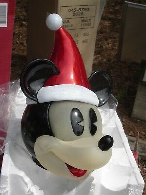 Lighted OUTDOOR Christmas Mickey Mouse Face Lamp Post (Head Only) Selling  AS IS