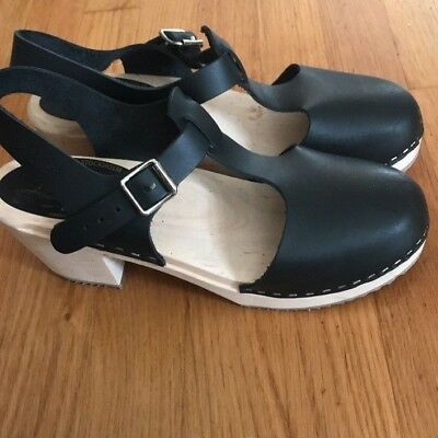 Lotta's from Stockholm Clogs T-Bar Black EUSize 41 USSize 10. New. Never worn.