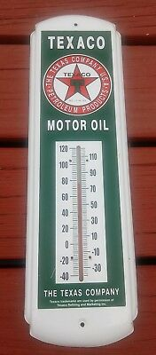 "Vintage Style 17"" Texaco Oil /  Gas Gasoline Green Indoor Outdoor Thermometer"