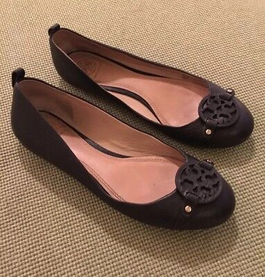 f55f2328bad TORY BURCH BLACK Mini Miller Flats Sz 7.5 Retail  235 SOLD OUT ...