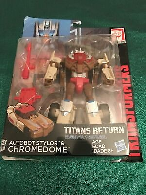 Transformers Generations Titans Return Deluxe Class Autobot Stylor & Chromedome