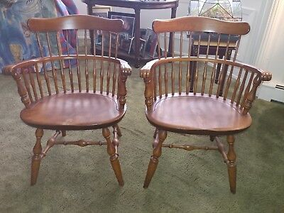 Pair of Nichols and Stone windsor chairs, post 1950Excellent condition