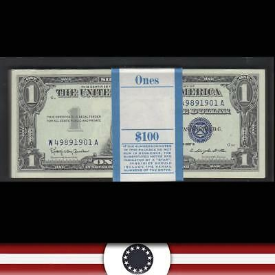 UNCIRCULATED PACK  of 100 1957-B $1 SILVER CERTIFICATES  Fr 1621  W49891901A