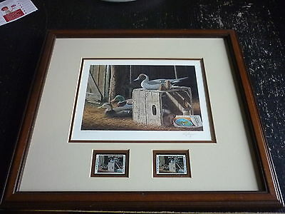 Waterfowl Print By Ronald Lougue, West Virginia 1989 State Stamps / Signed Ed.