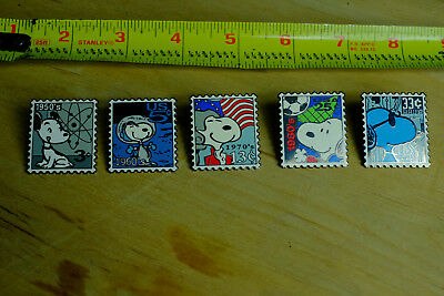 Set of Five Snoopy Pins