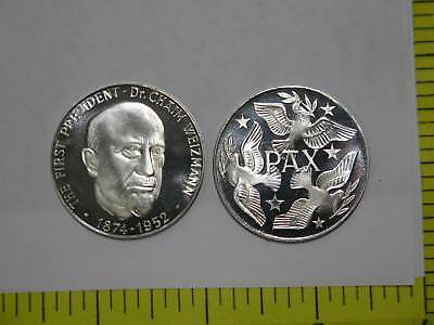 Israel Commemorative Medal First Pres. Weizmann & Pax World Coin Collection Lot
