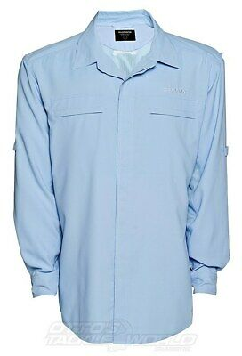 Shimano Tego Vented Shirt Robia Blue BRAND NEW @ Ottos Tackle World
