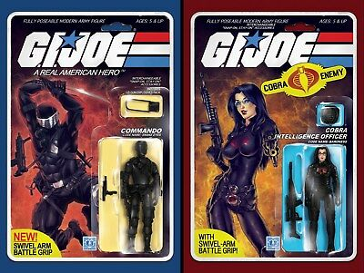 GI Joe:Real American Hero #215 & ,#216  Action Figure 2 Pack Variant Comic Book