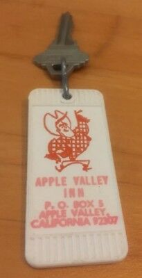 Vintage Hotel Fob and Key Apple Valley Inn Roy Rogers Dale Evans