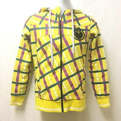 Nomis Youth Hoodie Yellow Plaid Size Small