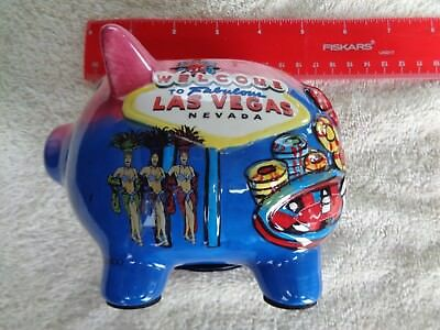 Las Vegas Piggy Bank, 6 Inches Long, 4 Inches Wide, 4 Inches High