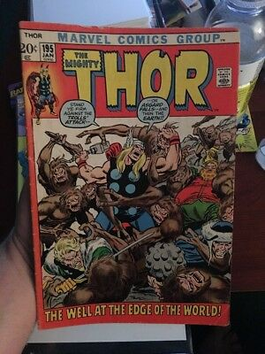 Thor #195! In VG Condition! LOOK! RARE! WOW!