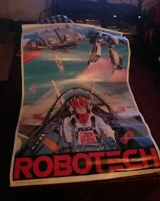 ROBOTECH POSTER - Vintage Rick in Cockpit, 1985 Harmony Gold