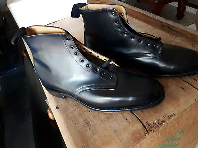 BAXTER Leather Black Boots - New