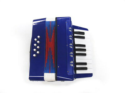 MDA Junior Button/Piano Accordion Blue Pearl 17 Treble 8 Bass Buttons