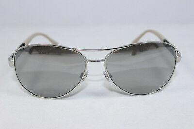 d5579a5649 New Authentic BURBERRY BE3080-1005 6V Silver Light Gray Mirror Grad  Sunglasses