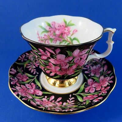 Provincial Flowers Royal Albert Fireweed Tea Cup and Saucer Set