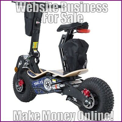 ELECTRIC SCOOTERS Website Earn £63 A SALE|FREE Domain|FREE Hosting|FREE Traffic