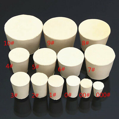 Rubber Stopper Bung Solid Laboratory Engine Plug for Test Tubes All 13 Sizes